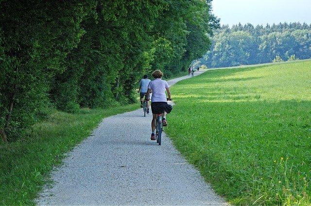výlet na kolech u lesa