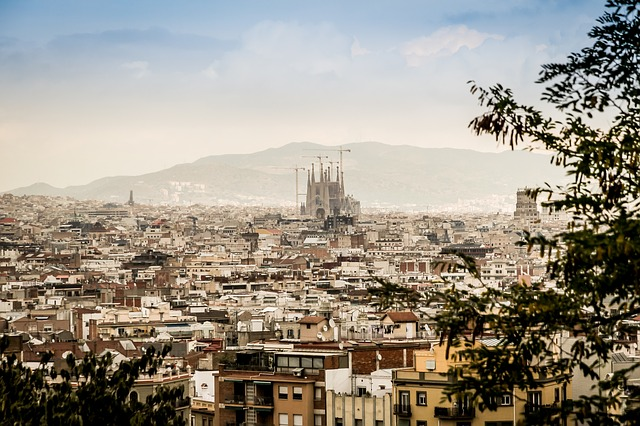 panorama v Barceloně