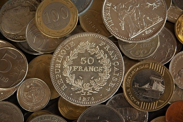 nejrůznější mince