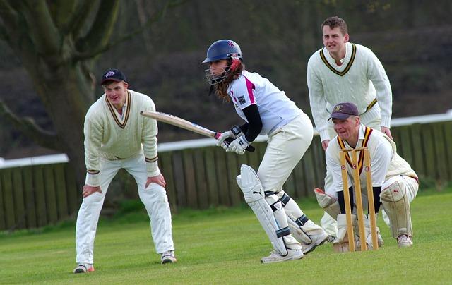 sportovci na kriketu