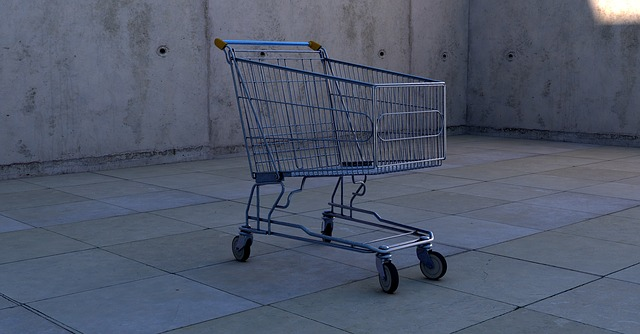 prázdný nákupní vozík