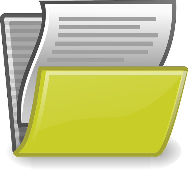 složka papírů