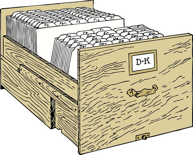 zásuvka kartotéky