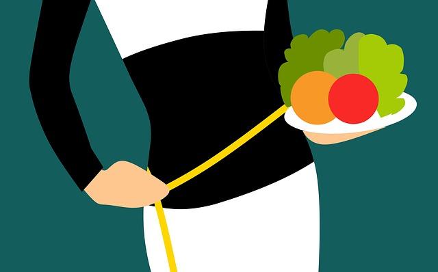 žena na dietě