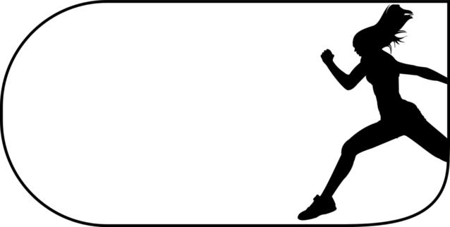Silueta běžící ženy