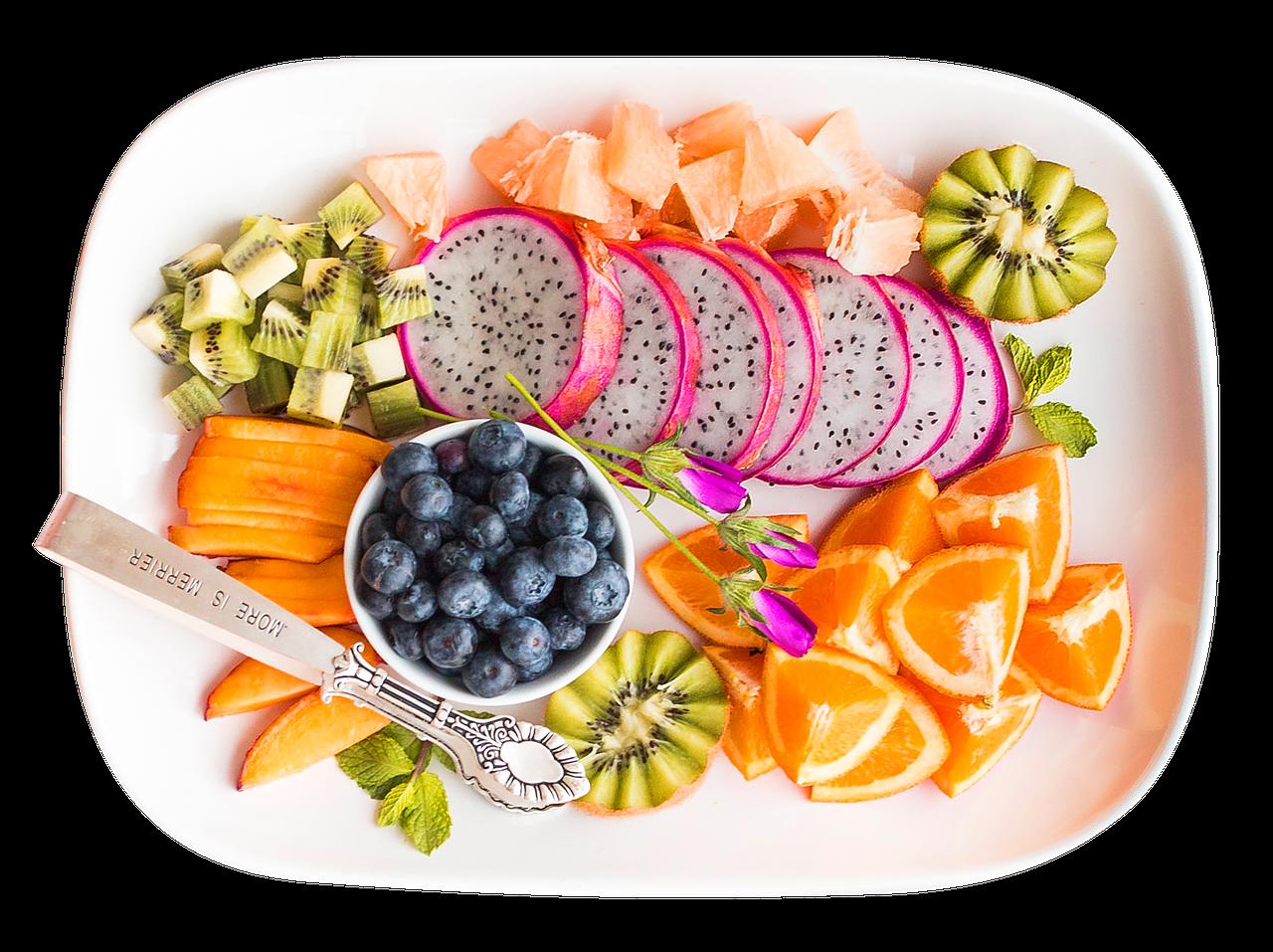 různé druhy ovoce